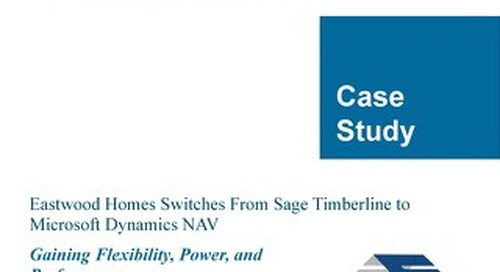 Customer Success Story: Eastwood Homes
