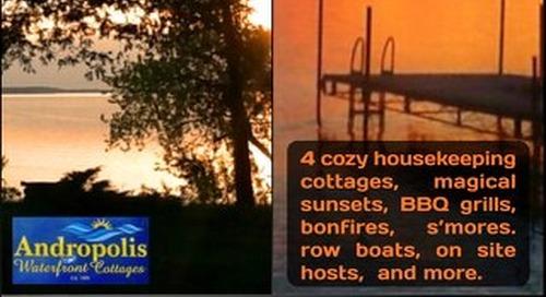 Door County Waterfront Cottages 2018 Rack Card