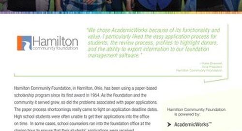 Hamilton Community Foundation and AcademicWorks