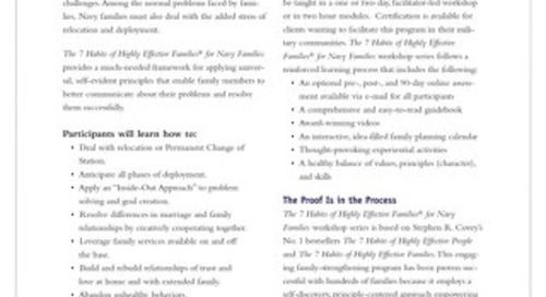 The 7 Habits For Navy Families
