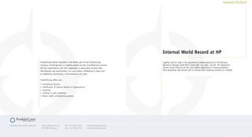 Internal World Record at HP