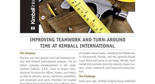 Improving Teamwork and Turn-Around time at Kimball International