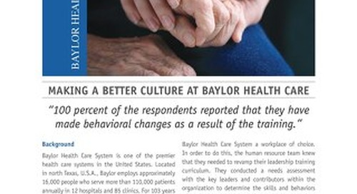 Making a Better Culture At Baylor Health