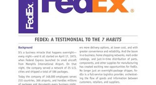 FedEx: A Testimonial to the 7 Habits