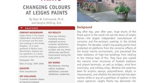 Changing colours at Leighs Paints