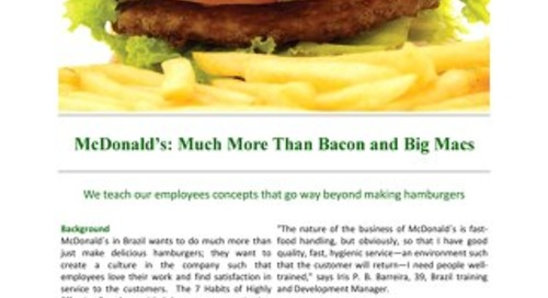 McDonalds More than Bacon and Big Macs