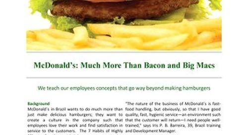 McDonalds More than Bacon and Big Macs