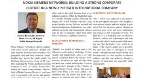Nokia Siemens Networks: Building a Strong Culture