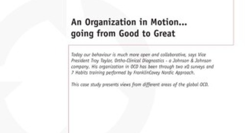 An Organization in Motion...