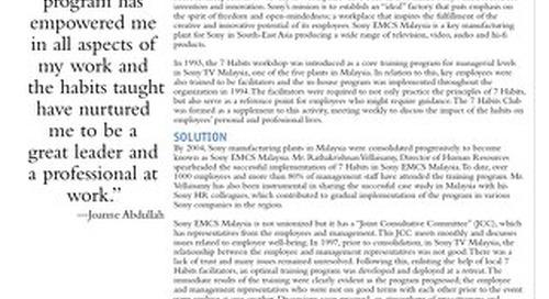 Success Story Sony EMCS Malaysia