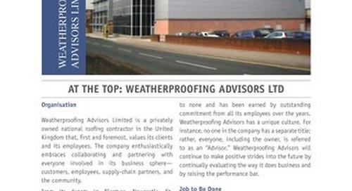AT THE TOP: WEATHERPROOFING ADVISORS LTD