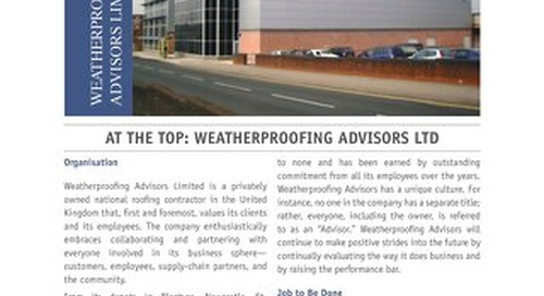 AT THE TOP: WEATHERPROOFING ADVISORS LTD