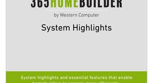 Dynamics NAV Home Builder Highlights