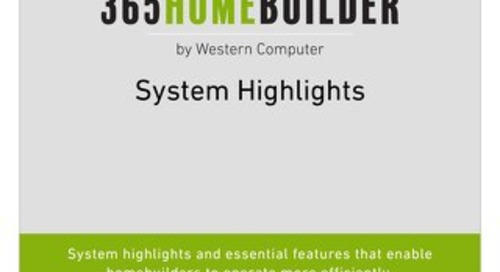 365HomeBuilder by Western Computer System Highlights