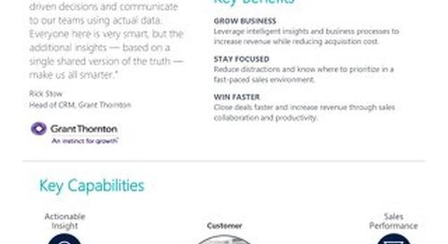 Dynamics 365 Sales Info Sheet