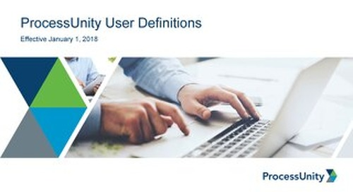 ProcessUnity User Definitions