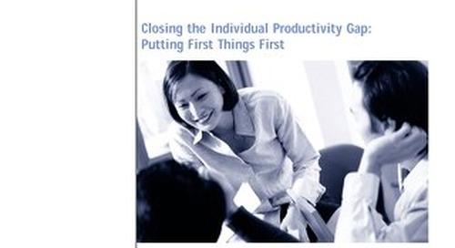 Closing the Individual Productivity Gap