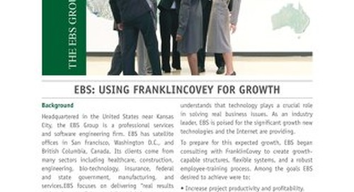 EBS: Using FranklinCovey for Growth