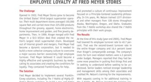 Employee Loyalty at Fred Meyer Stores
