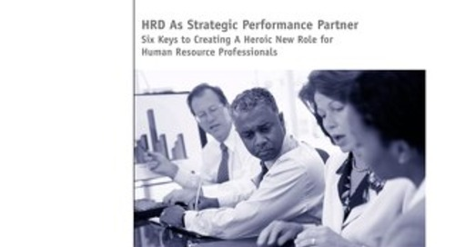 HRD As Strategic Performance Partner