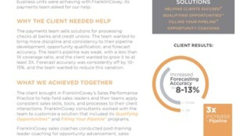 Case Study - Financial Services Firm 3x Pipeline