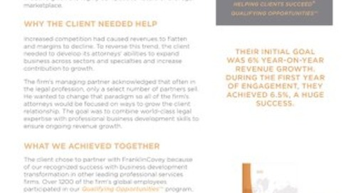 Case Study - Flat Growth Inflates at International Law Firm
