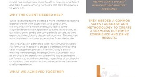 CASE STUDY Growing Consulting Firm Challenges From Success