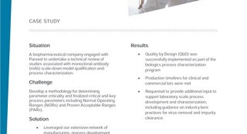 Quality By Design Case Study
