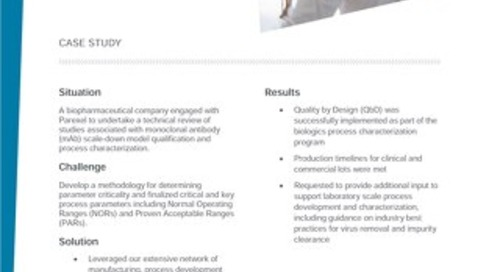 Case study quality by design