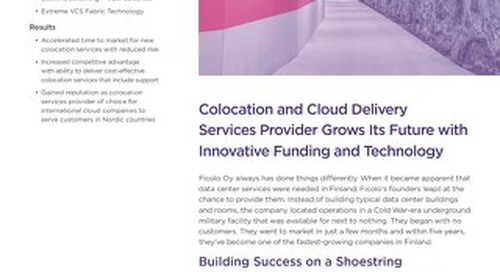 Colocation and Cloud Delivery Services Provider Grows Its Future with Innovative Funding and Technology