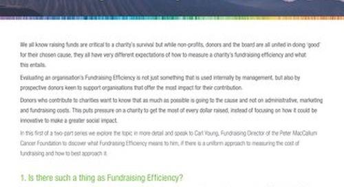 Fundraising Efficiency part 1