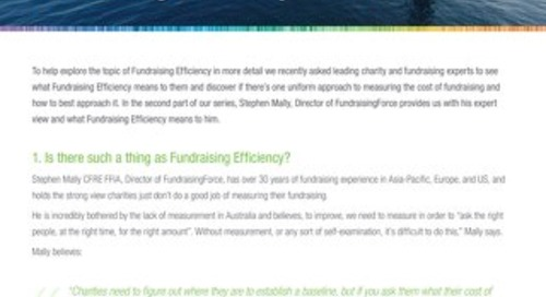 Fundraising Efficiency part 2