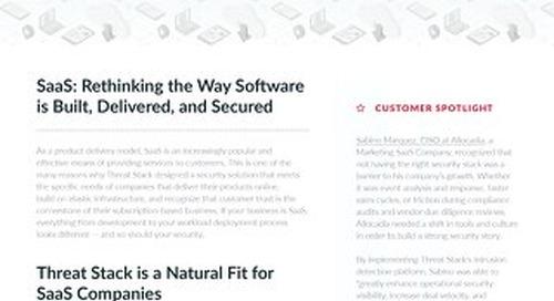 Threat-Stack For SaaS Companies Infosheet