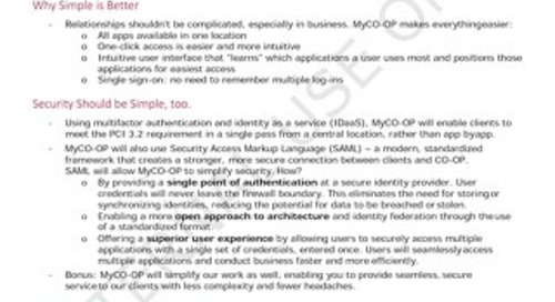 MyCO-OP Talk Track