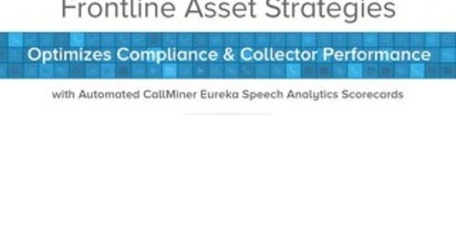 Frontline Asset Strategies Optimizes Compliance Collector Performance