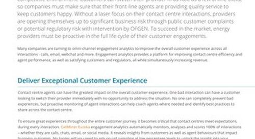 UK Customer Interaction Analytics Solutions for Energy