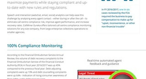 Speech Analytics Solutions for UK Credit & Collections