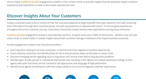 Interaction Analytics Solutions for Property & Casualty Insurance Providers