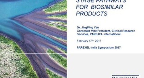 Effective Late Stage Pathways For Biosimilar Products