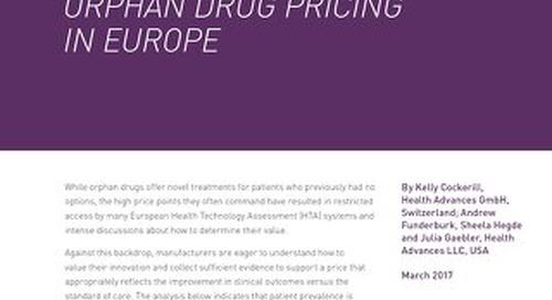 ORPHAN DRUG PRICING  IN EUROPE
