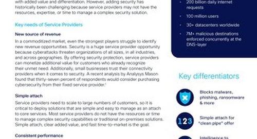 Cisco Umbrella for Service Providers