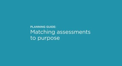 Matching assessments to purpose rubric
