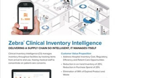 Zebra Healthcare Clinical Inventory Intelligence Factsheet