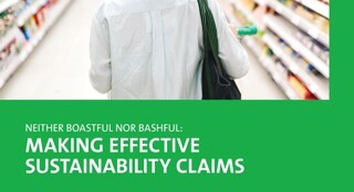 Make effective sustainability claims
