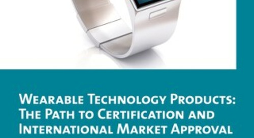 Wearables: the path to certification & market approval