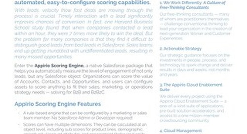 Appirio Scoring Engine for Salesforce