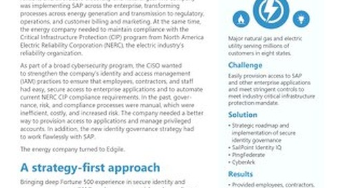 U.S. Energy Company Turns On Identity Governance to Protect Critical Infrastructure