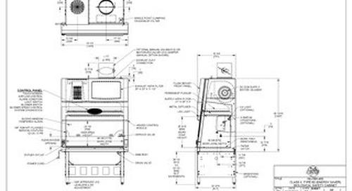 [Drawing] NU-560-400 Class II, Type B2 Biosafety Cabinet
