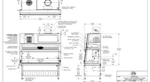 [Drawing] NU-560-600 Class II, Type B2 Biosafety Cabinet