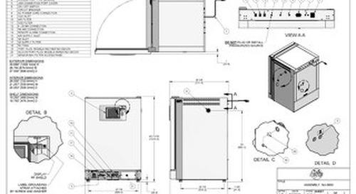 [Drawing] NU-5800 Series CO2 Incubator